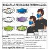 MASCARILLA PERSONALIZADA ADULTO reutilizable e higiénica
